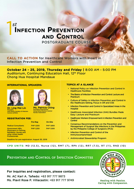 Infection Prevention and Control Post Graduate Course