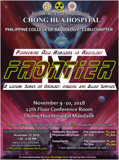 Pioneering New Horizons in Radiology - Frontier. A Lecture Series on Oncology, Imaging and Allied Services